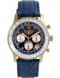 Krug Baümen 400207DS Air Traveller Diamond Blue Dial Blue Strap