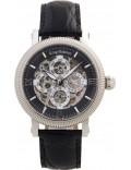 Krug-Baumen 60211KM Mens Majestic Black Leather Strap Watch