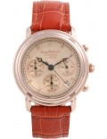 Krug Baümen 150575DM Principle Diamond Mens Rose Gold Chronograph Watch
