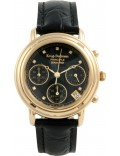 Krug-Baumen 150573DL Ladies Principle Diamond Black Chronograph Watch