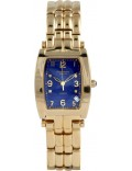 Krug-Baumen 1964DMG Tuxedo Gold 4 Diamond Blue Dial Gold Strap