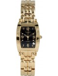 Krug Baümen 1965DMG Tuxedo Gold 4 Diamond Black Dial Gold Strap