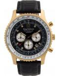 Krug Baümen 600206DS Mens Air Traveller Diamond Watch