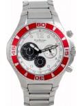 Krug Baümen 140605KM Challenger Silver Dial Red Bezel Chronograph