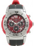 Krug Baümen 160504KM Kingston Mens Red Dial Black Strap Chronograph Watch