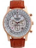 Krug-Baumen 600701DS Mens Air Traveller Diamond Watch