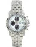 Krug Baümen 241269DM-MOP Mens Sportsmaster Diamond White Watch