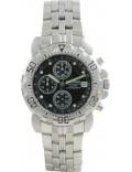 Krug Baümen 241269DM-BK Sportsmaster Black Diamond Mens Chronograph Sports Watch