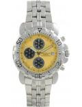 Krug Baümen 241269DM-Y Mens Sportsmaster Metallic Yellow Diamond Chronograph Watch