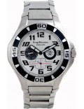 Krug Baümen 140501KM Vanguard Silver Black Steel Watch