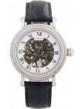 Krug-Baumen 60112KM Mens Prestige Black Leather Strap Watch
