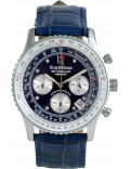 Krug Baümen 400507DS Air Traveller Diamond Blue Dial Blue Strap