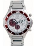 Krug Baümen 140604KM Challenger Silver Dial Brown Bezel Chronograph