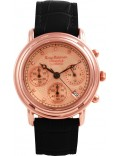 Krug-Baumen 150577DM Principle Diamond Mens Rose Gold Strap Watch