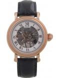 Krug Baümen 60152DM Mens Prestige Black Leather Strap Watch