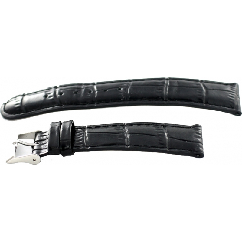 Krug-Baumen 15058BLCKG Mens Enterprise Black Leather Replacement Strap