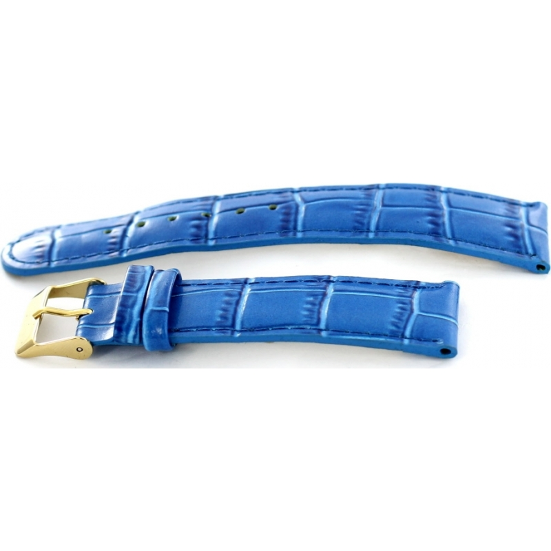 Krug-Baumen 15058BLUEG Mens Enterprise Blue Leather Replacement Strap