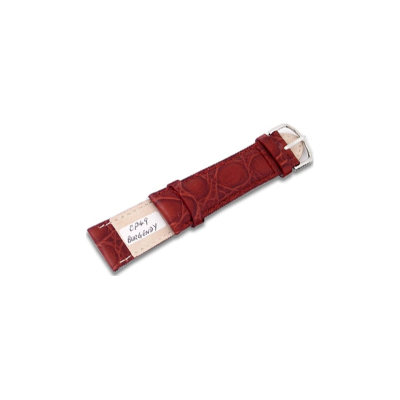 Krug-Baumen CP49BurgandyG Burgundy Leather Replacement Mens Principle Strap