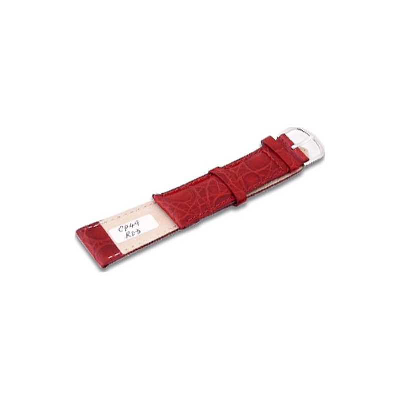 Krug-Baumen CP49RedG Fire Red Leather Replacement Mens Principle Strap
