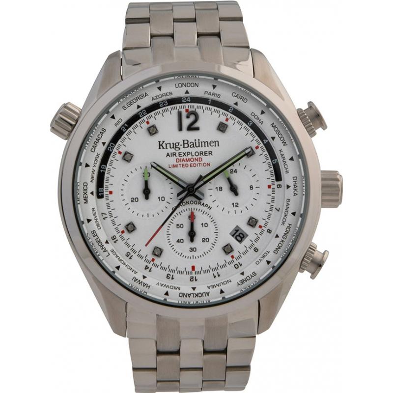 Krug-Baumen 100100DM Mens Air Explorer Diamond Limited Edition Watch