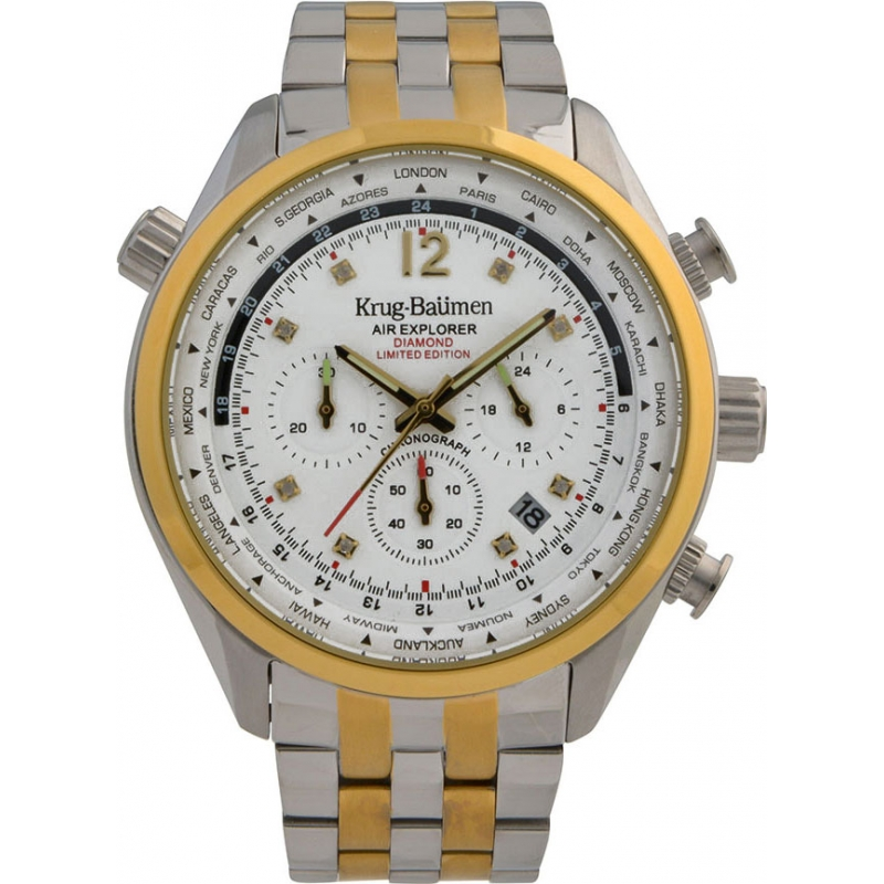 Krug-Baumen 100107DM Mens Air Explorer Diamond Limited Edition Watch