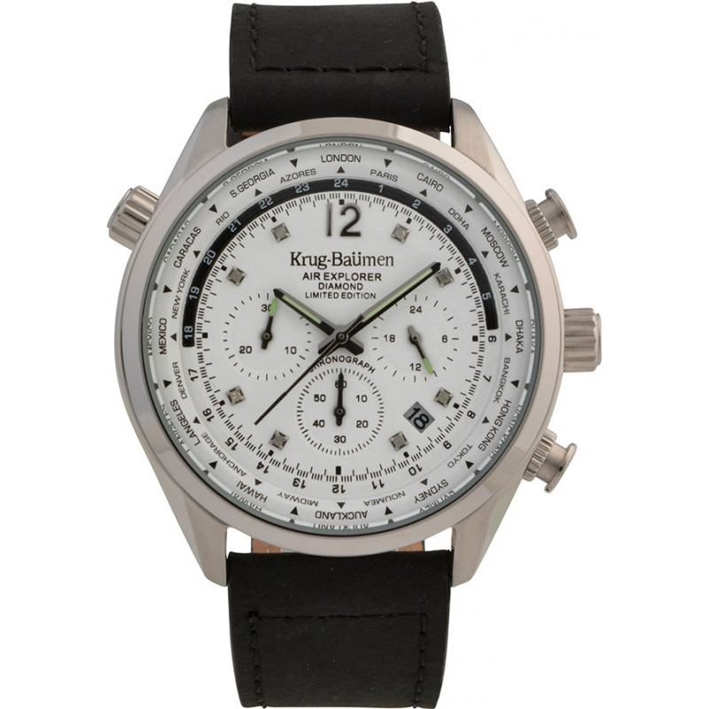 Krug-Baumen 100201DM Mens Air Explorer Diamond Limited Edition Watch