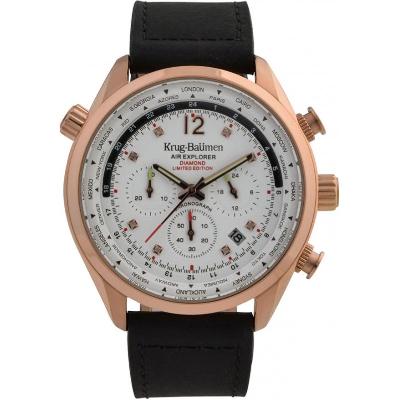 Krug-Baumen 100205DM Mens Air Explorer Diamond Limited Edition Watch