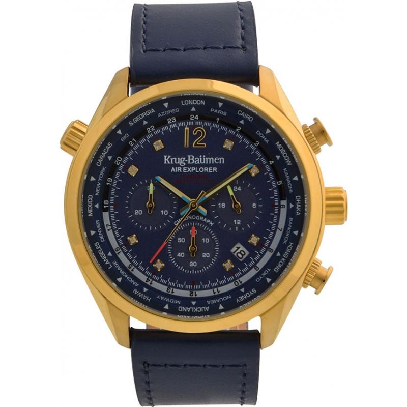 Krug-Baumen 100223DM Mens Air Explorer Diamond Limited Edition Watch