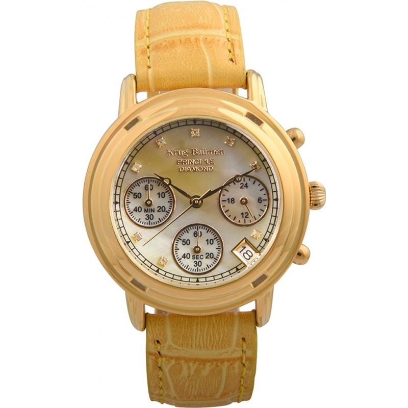 Krug-Baumen 150574DL Ladies Principle Diamond Chronograph Watch