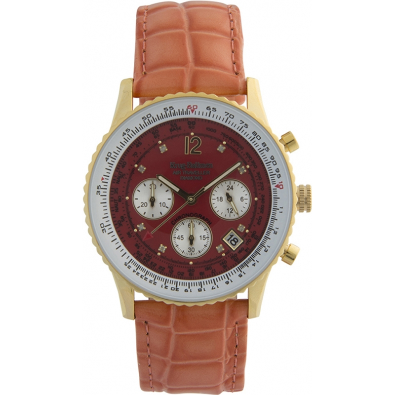 Krug-Baumen 400209DS Air Traveller Red Dial Red Strap