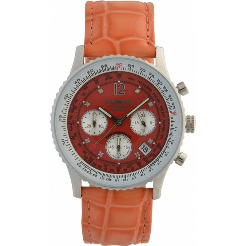 Krug-Baumen 400509DS Air Traveller Red Dial Red Strap